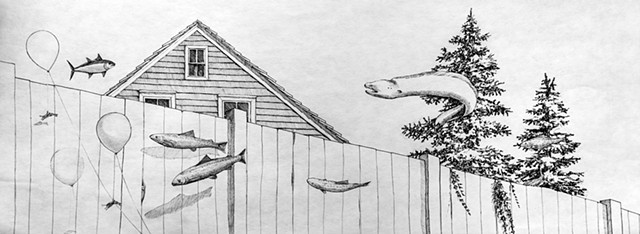 surreal pen and ink illustration and art by Dan Fionte