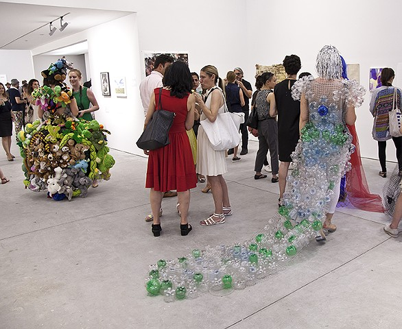 Description/discussion about 4 theme dresses at Richard Taittinger Gallery, New York
