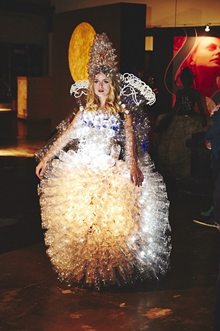 recycled plastic bottles dress