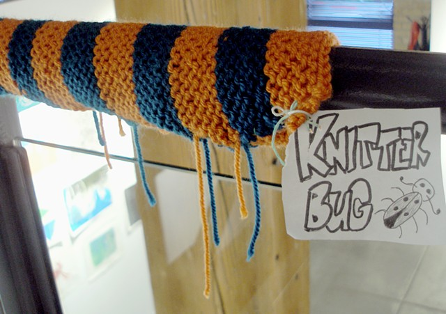 """Handrail Cozy by """"Knitter Bug"""""""