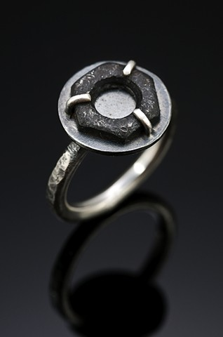 Ring with found steel