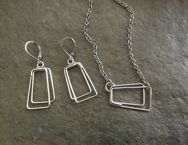 Shifted Rectangles Earrings