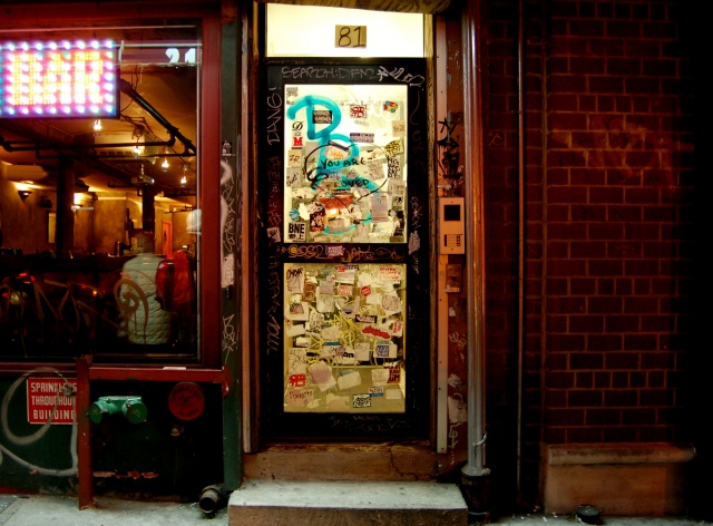 Sidewalks and Front Doors. NYC.