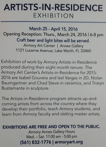 ARTISTS IN RESIDENCE at the Armory Art Center