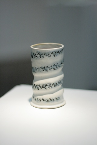 Twisted Cup with Leaf Print