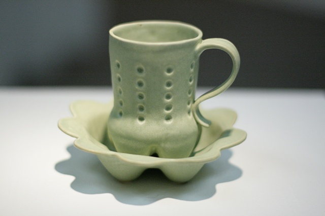 Cola Bottle Cup and Saucer