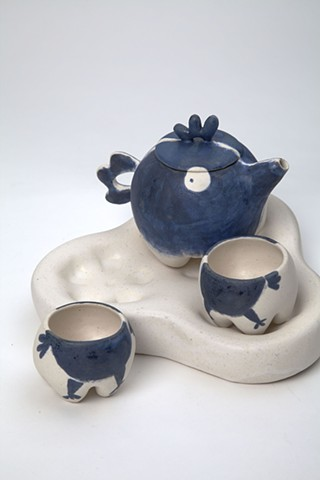 wanglingchou, chicken, tea set