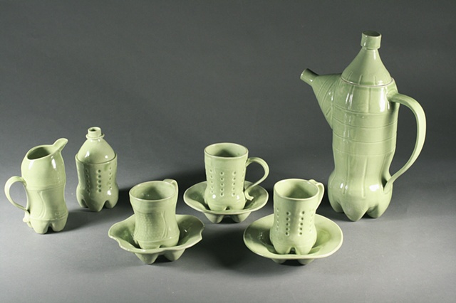 Cola Bottle Tea Set