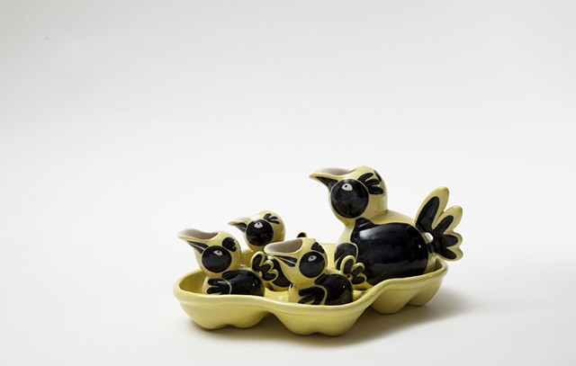 wanglingchou, yellow duck, tea set