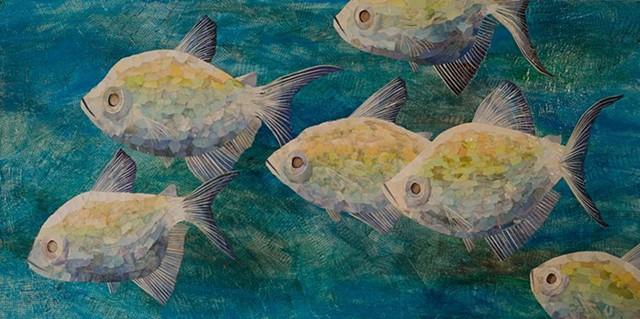 fish underwater blue collage multimedia