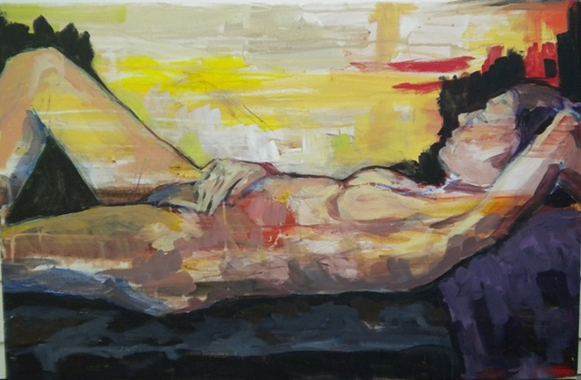 Reclining Figure 3 in Black
