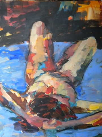 Reclining Woman in Blue