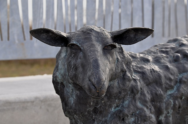 Anna Williams, Bronze Sculpture, Bellwether, 2011.