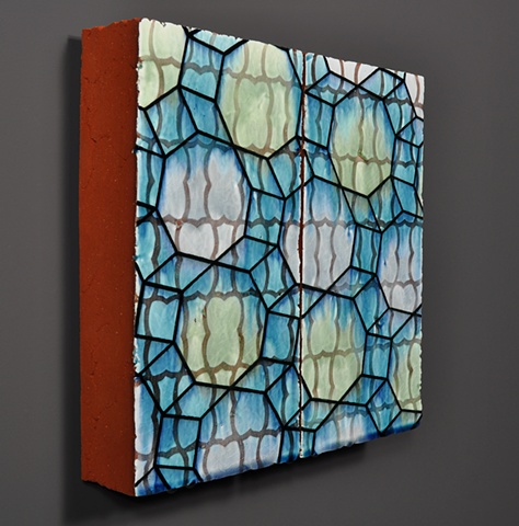 architectural ceramic tile sculpture wall painting clay art installation ceramics tiles glazed pattern modern contemporary interior exterior design mathematical