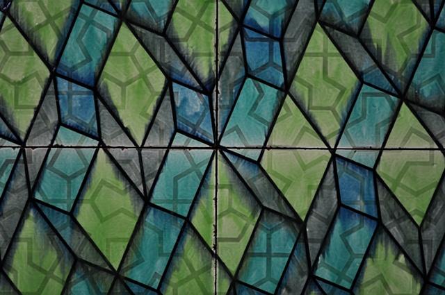 architectural ceramic tile sculpture wall painting clay art installation ceramics tiles glazed pattern modern contemporary interior exterior design