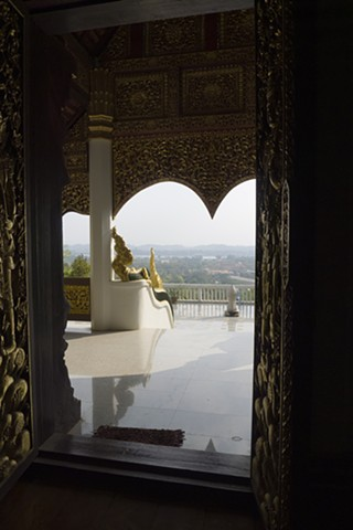 Wat Phra That Chom Kitti, View overlooking Chiang Saen, Thailand