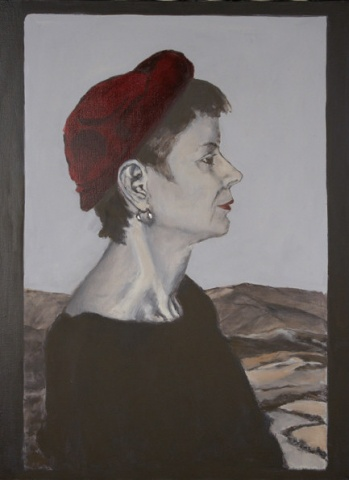 painting of woman in profile