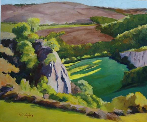 oil painting of Italian landscape by Vicki Ingham
