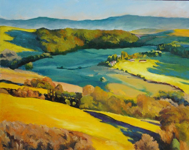 oil painting of Italian landscape by Vicki Ingham