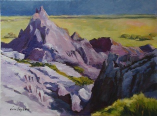 Acrylic painting of the Badlands in South Dakota by Vicki Ingham