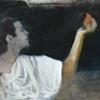 The Moon Goddess Contemplates a Pear