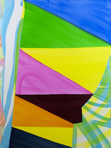 abstraction, abstract painting, prism, geometric, expressionism, color, oil painting