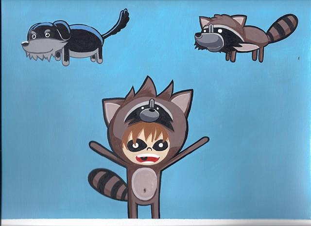 Raccoon size