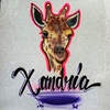 Giraffe with Script