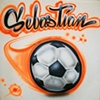 Soccer Ball with Script Font