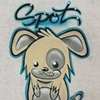 Cute Dog with Script Font