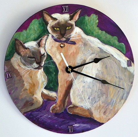 Cats on the Wall Clock
