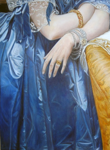Hands of Princess Albert de Broglie After Ingres