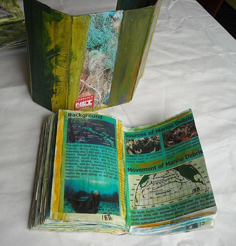 Ocean Entry -Back of Housing and book pages