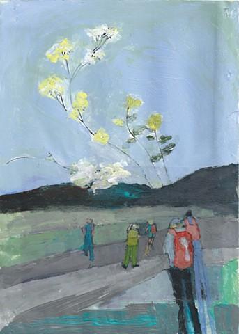 Walking Towards Blooms