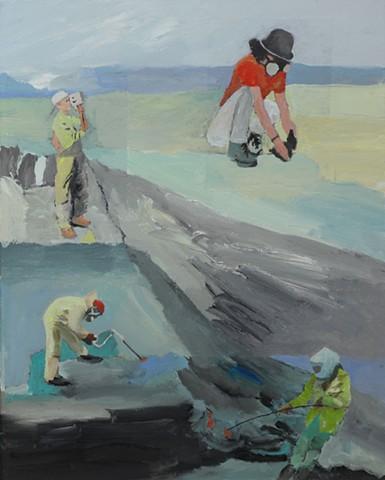 Kilauea geologists - fieldwork