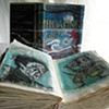 Floating Worlds-dust jacket and book pages