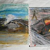 Kilauea Volcano Journal-USGS photos paintings of geologist and plumes