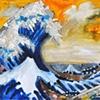 Hokusai's Great wave - 21st Century