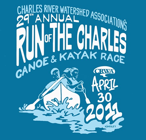 Run of the Charles 2011 Event T-shirt Design