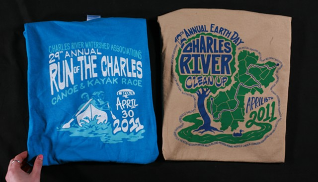 Charles River Watershed Association T Shirt Designs 2011