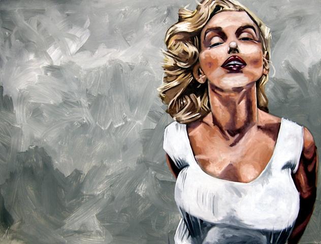 monroe, boobs, blonde, lips, great, art, white, grey, skintone