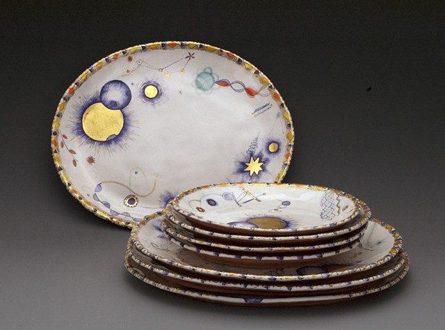 Cosmic Dinner and Lunch Plates