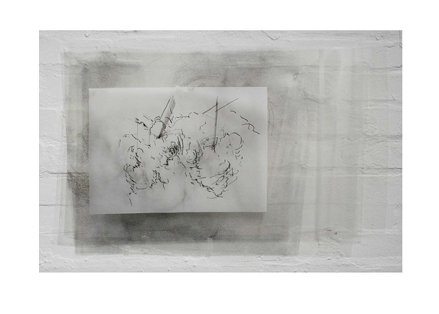 Drawing with ink on acetate by Caroline Tobin. 2009