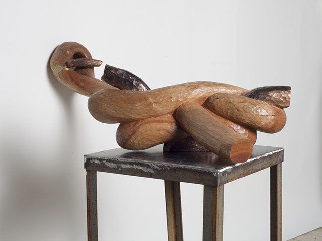 Wood rope sculpture by Lin Lisberger