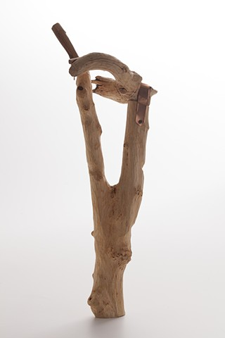 Wood vessel sculpture by Lin Lisberger
