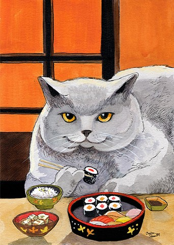 "Sushi Cat ""Big Fred"""