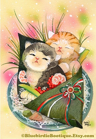 "Sushi Cat ""Christmas Kittens"""