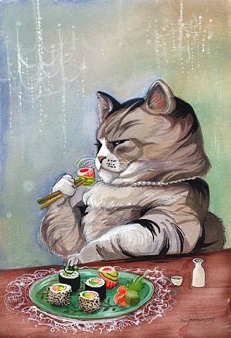"Sushi Cat ""Fancy Feast"""
