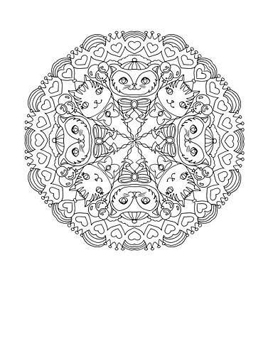 Cat Mandala ©Kappa Publishing