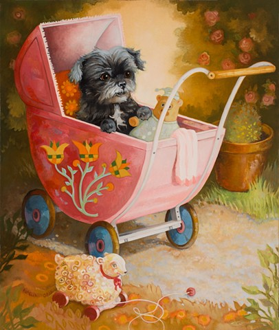 Fizz In Toy Stroller